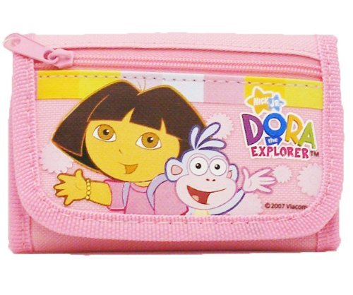 - Dora The Explorer Canvas Velcro Tri-fold Wallet - Hot Pink