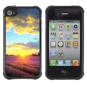 Suave TPU GEL Carcasa Funda Silicona Blando Estuche Caso de protección (para) Apple Iphone 4 / 4S / CECELL Phone case / / Sunset Beautiful Nature 90 /