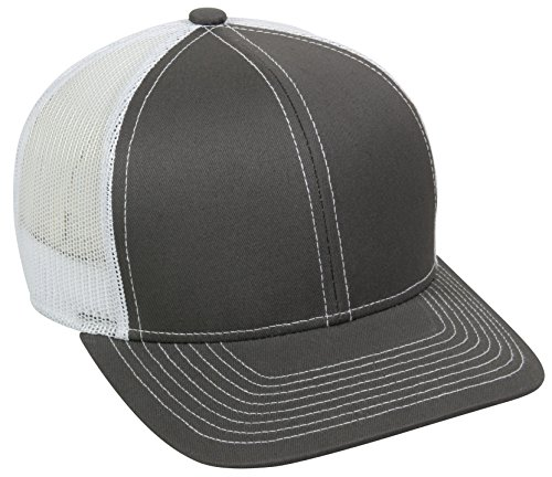 - Outdoor Cap Structured Mesh Back Trucker Cap, Charcoal/White, One Size