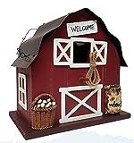 Barn Bird House Outdoor Country Decor, 8''