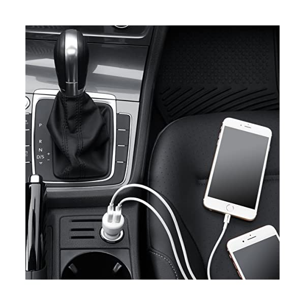 AmazonBasics USB Car Charger For Apple Android Devices