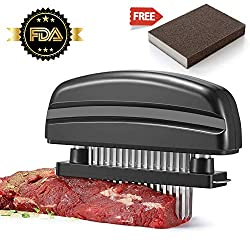 Meat Tenderizer 48 Blade Meat Tenderizer Tool Easy To Take Apart And Wash For Tenderizing Bbq Steak Turkey Chicken Beef Veal Pork Fish Gift Emery Dish Washing Sponge