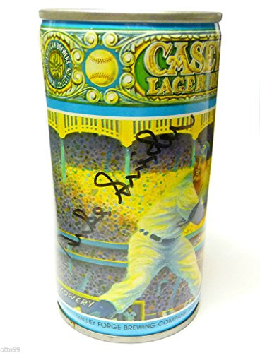 DUKE SNIDER SIGNED AMERICAN BREWERS CASEY'S LAGER BEER CAN BROOKLYN DODGERS NY (Rose Lager)