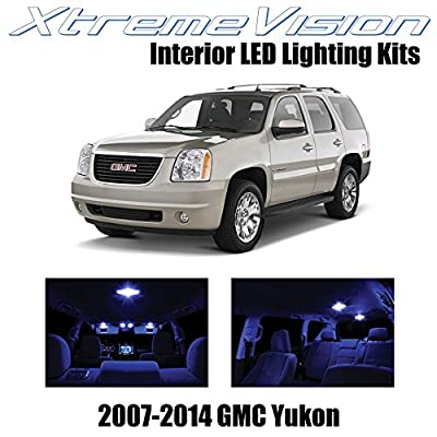 Xtremevision Interior LED for GMC Yukon 2007-2014 (12 Pieces) Blue Interior LED Kit + Installation Tool: Automotive