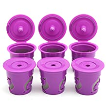 Raza 6Pcs Refillable Coffee Filter K-Carafe K-Cup Pod Spoon Set For Keurig 2.0 Machines Coffee Tea Tools Capsules Reusable Filter