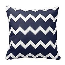 """Comi Chevron Navy Blue Designed Home Decor Pillow Case Cushion Cover 18"""" X 18"""""""