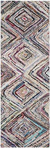 Safavieh Nantucket Collection NAN314A Handmade Abstract Geometric Diamond Multicolored Cotton Runner Rug (2'3