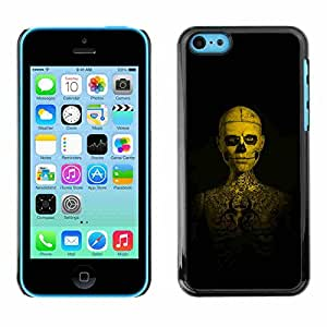 Shell-Star ( Skull Tattoo Skeleton Human ) Fundas Cover Cubre Hard Case Cover para Apple iPhone 5C