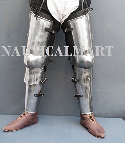 Leg combat armor set , plate legs, cuisses with poleyns and greaves SCA LARP steel protection medieval armor SCA larp legs by NAUTICALMART