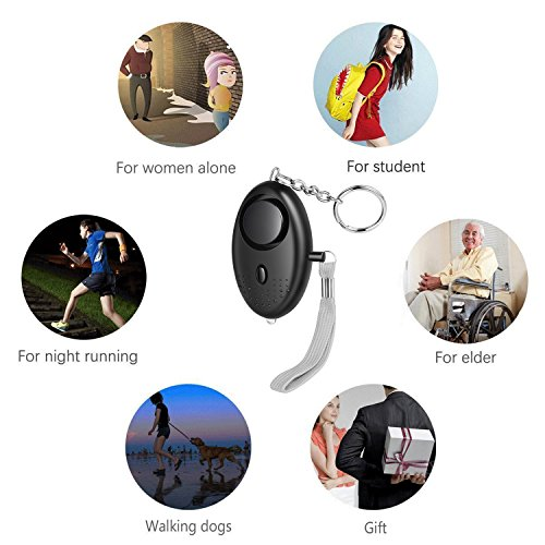 HXDZFX Emergency Personal Alarm,140DB Self-Defense Electronic Device Security Alarm Keychain With LED Light for Women Kids Girls Elderly Safety - 3 Pack by HXDZFX (Image #5)