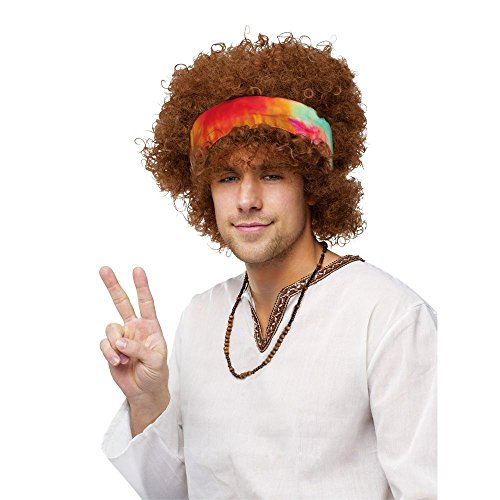 Afro Hippie Costume (Hippie Afro Adult Wig)