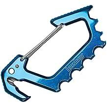 Kershaw Jens Carabiner Blue Polished Titanium Carbo-Nitride Coating 1150BLUX Multi-Tool