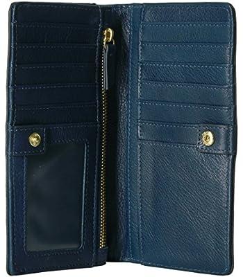 Fossil Caroline Rfid Slim Bifold Wallet Midnight Navy Wallet