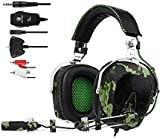 GW SADES SA926 Wired Stereo Over Ear Gaming Headset Headphones with Mic for PC/PS3/PS4/XBOX ONE/XBOX 360/Smartphones/Mac/Laptop/Computer(Camouflage)