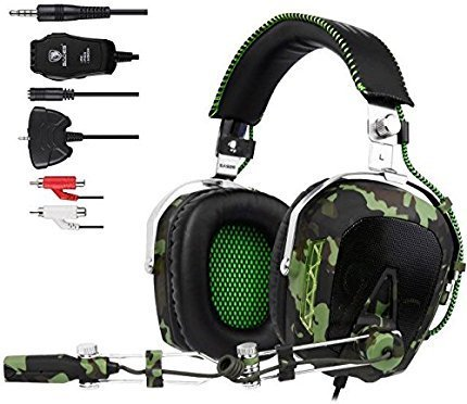GW SADES SA926 Wired Stereo Over Ear Gaming Headset Headphones with Mic for PC/PS3/PS4/XBOX ONE/XBOX - Xbox 360 Usb Headset