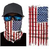 Yamde 3D Face Sun Mask, Neck Gaiter, Headwear, Magic Scarf, Balaclava, Bandana, Headband Fishing, Hunting, Yard Work, Running, Motorcycling, UV Protection, Great Men & Women (red, m)