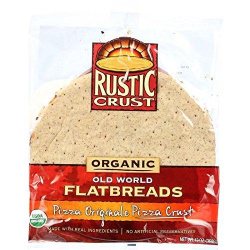 Rustic Crust Pizza Crust - Organic - Flatbreads - Pizza Originale - 13 oz - case of 8 - 95%+ Organic - by Rustic Crust