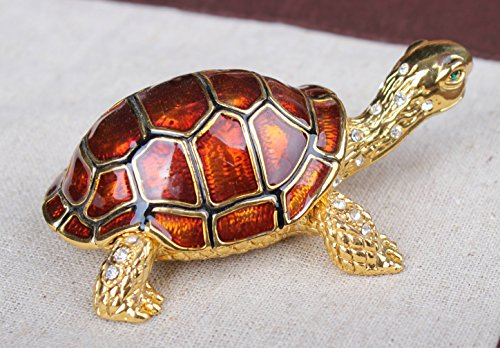 Small Turtle Crystal Jeweled Rhinestone Bejeweled with Stones Trinket Box Bejeweled Turtle