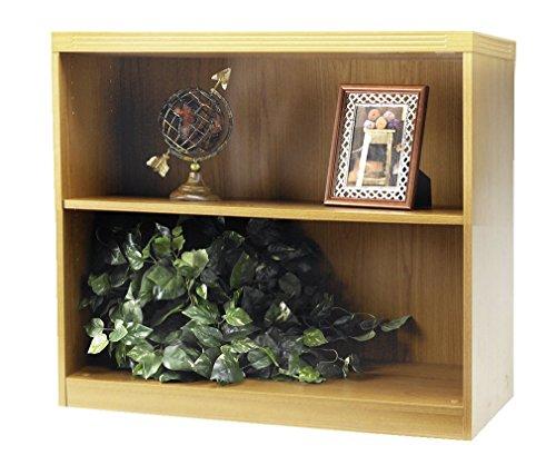 Mayline AB2S36LMA Aberdeen Bookcase, 2 Shelf, Maple Tf