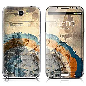 buy SX-027 Painting Pattern Front and Back Protector Stickers for Samsung Note 2 N7100