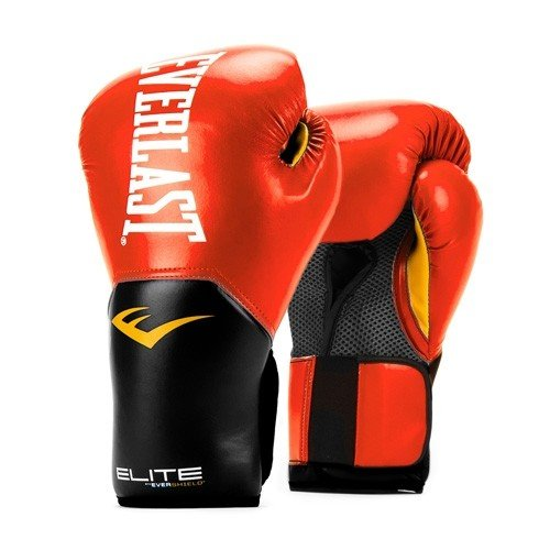 Everlast Elite Pro Style Training Gloves, Red, 14 - Glove Red Everlast Boxing