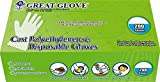 GREAT GLOVE CPE200-M-BX Cast Polyethylene (CPE) Food Service Gloves, Latex-Free, FDA 21CFR 170-199 Compliant, Embossed, Medium, Clear (Pack of 200)