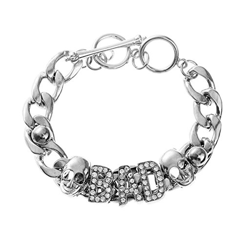 Rhinestone Letters Bracelet Costume Jewelry