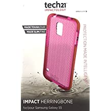 Tech21 Impact Herringbone Case for Samsung Galaxy S5 - Pink