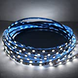 Super Slim LED Inside Cabinets Light 0.12in Width DC12V 3014 SMD 450 LED 50W LED Super Narrow Light Strip 16.4 Ft Reel (Daylight White 6000K)