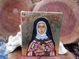 Catholic icon Saint Thérèse of Lisieux, hand painted St Teresa little flower icons