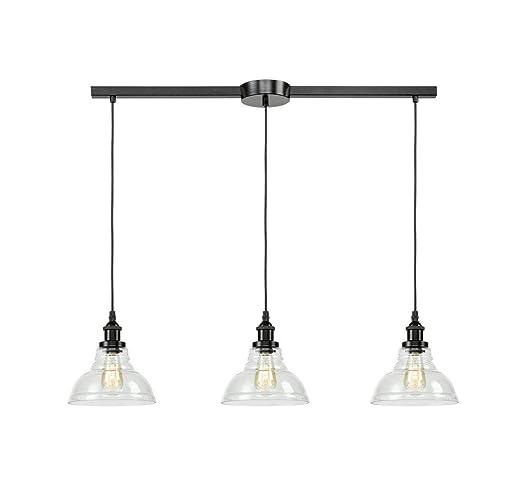 EUL Industrial Kitchen Island Lighting Fixture Pendant Lights Oil Rubbed  Bronze-3 Lights