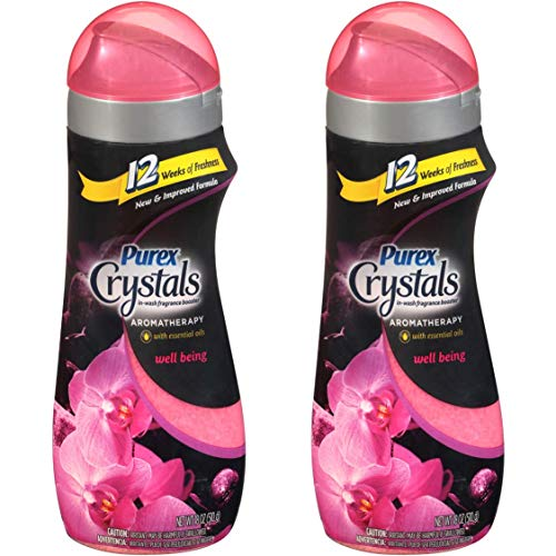 Purex Crystals Scent Enhancer Aromatherapy Well Being, 18 Oz / 510 Grams Ea. - 2 Packs