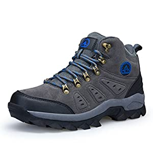 3C Camel Mens Waterproof Lightweight Breathable Leather Mid Boots (10, Grey)