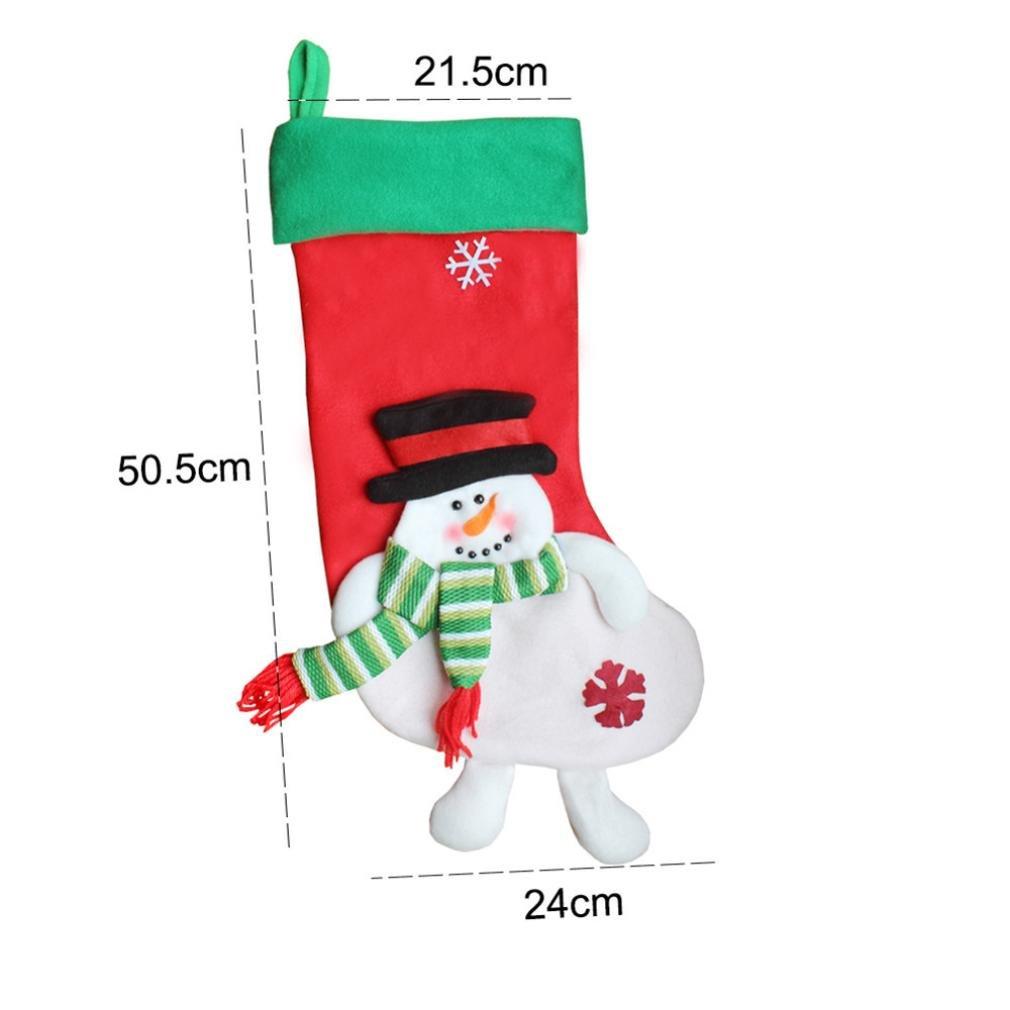 Pere Noel Chaussette de Noel Geant 55cm Noel Sac de Cadeau Supspendu au Sapin de Noel Decoration A