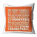 We Do Basketball Throw Pillow | Basketball Pillows by ChalkTalkSPORTS | Orange