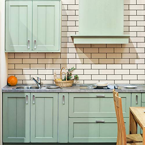 Tile Brick Pattern - Subway Tiles Wall Pattern Stencil for Painting Tiled Kitchen Backspash or Modern Brick Wall Design
