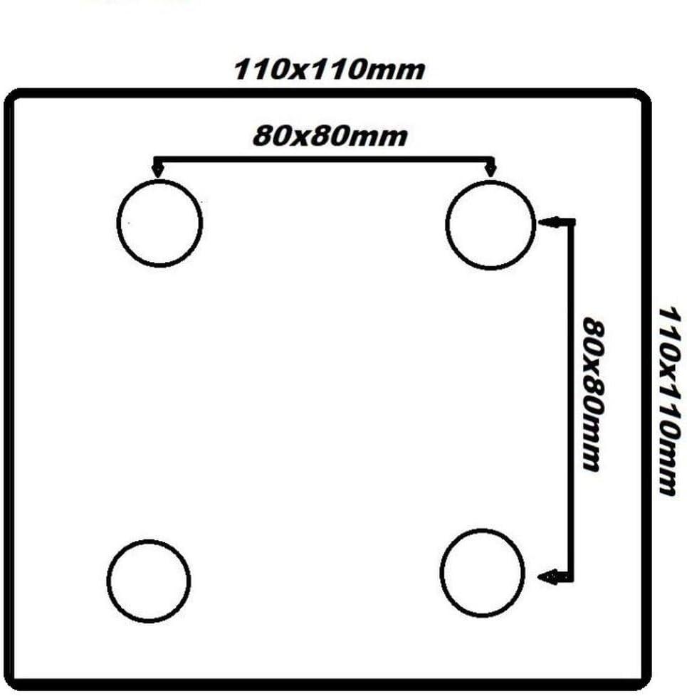Uzman-Versand 100mm mit Bremse 200 mm 80 mm 125 mm ruote in poliammide 150 mm Ruote girevoli in poliammide 100 mm