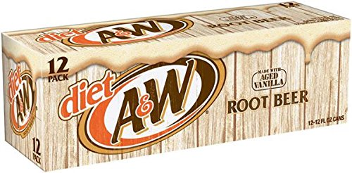 A&W Root Beer Diet, 12 oz Can (Pack of 24) ()