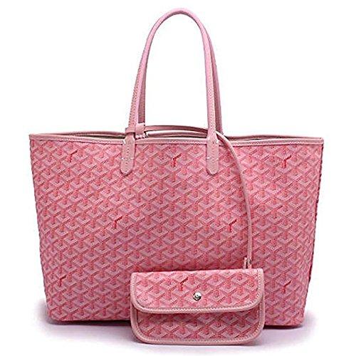Pink Handbags Large Handle Bags DLMBB Classic Shopping Travel Shoulder Tote Top Women Purse amp; RwqqvOT