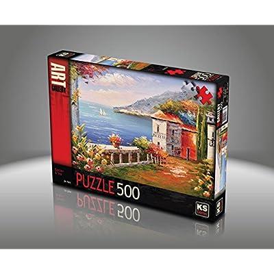 Jigsaw Puzzle 500 Pieces Jin Park Garden Sea