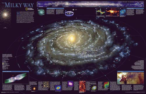 National Geographic: The Milky Way Wall Map - Laminated (31.25 x 20.25 inches) (National Geographic Reference (Milky Way Solar System)