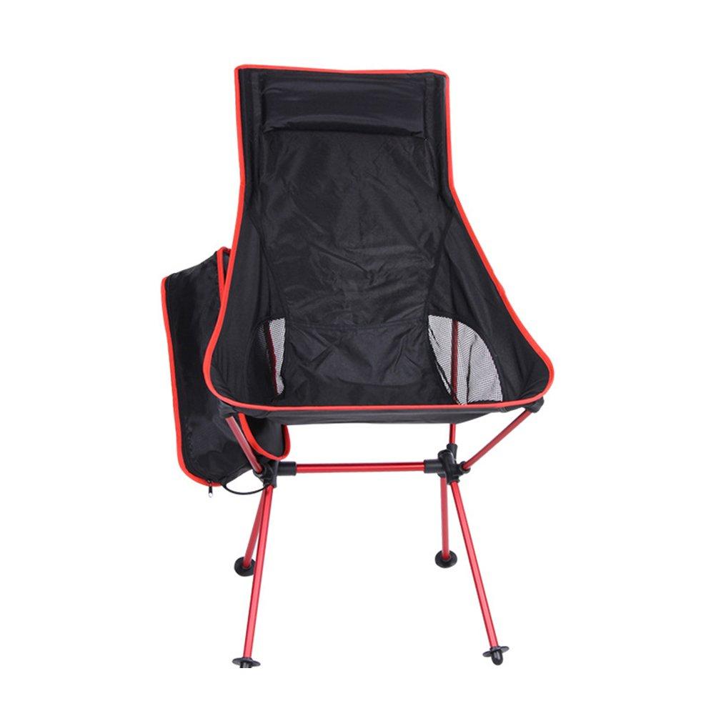 WINOMO軽量、折りたたみ式、カジュアルレジャー椅子アウトドア釣りハイキング釣りバック B07414YTQ4  ブラック