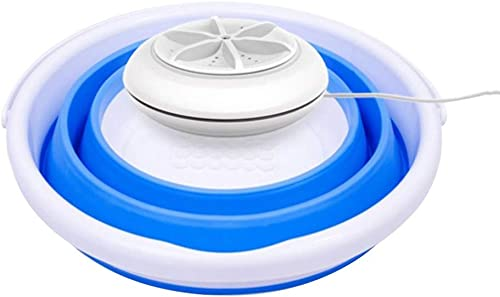 YUIO Mini Washing Machine With Foldable Tub Portable Personal Rotating Ultrasonic Turbines Washer USB Convenient Laundry for Travel Home Business Trip two in one