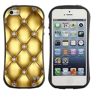 Suave TPU GEL Carcasa Funda Silicona Blando Estuche Caso de protección (para) Apple Iphone 5 / 5S / CECELL Phone case / / Gold Design Diamond Bling Glitter /