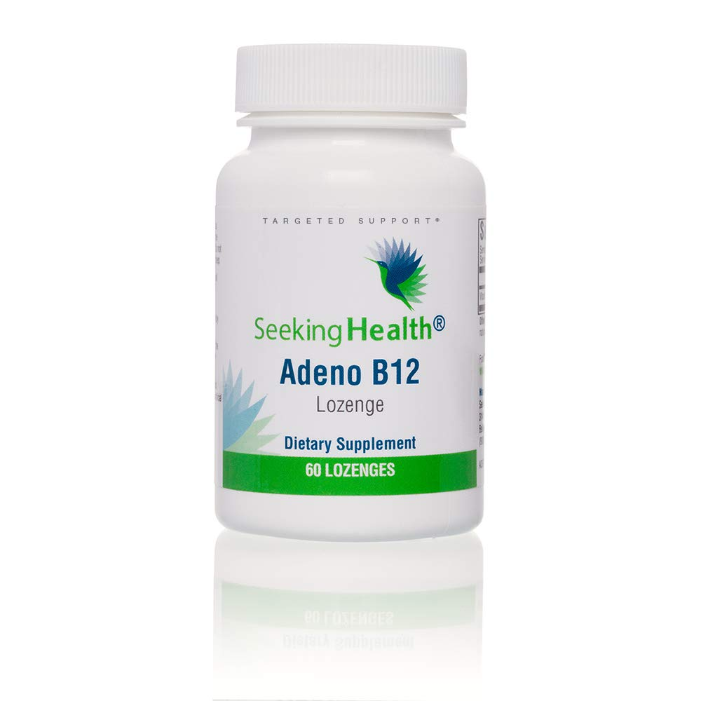 Seeking Health Adeno B12, Vitamin B12, Support Healthy Energy Levels, Support Healthy Memory and Mood, Easily Absorbed Vitamin B12, Support Normal Metabolism, 3,000 mcg Vitamin B12, 60 Vegan Capsules*