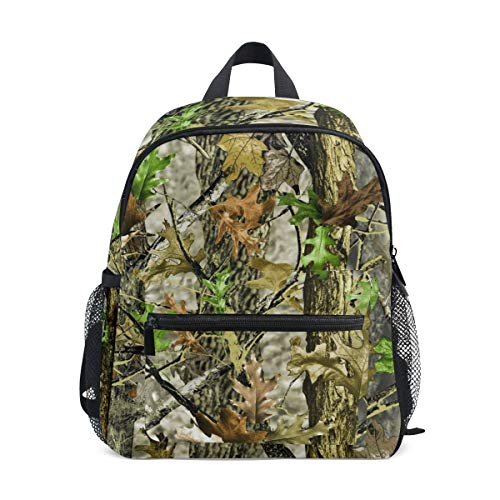 Realtree Leafs Camo Hunting Kid Backpack 12 inch Toddler Bookbag Travel School Bag