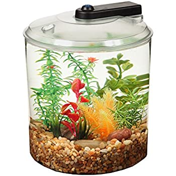 KollerCraft 1.5 Gallon 360 View Aquarium with LED Lighting