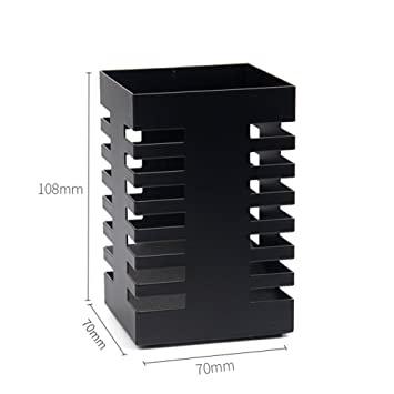 Malla de hierro Pluma útiles escolares Caja de almacenamiento Cañón de pluma-D 7x7x10cm(3x3x4): Amazon.es: Oficina y papelería