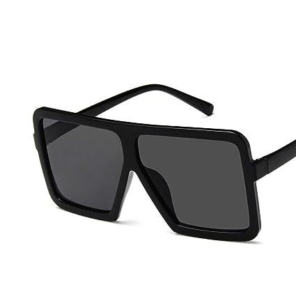 Moda grande forma cuadrada Mujeres Hombres Gafas de sol ...