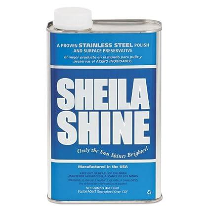 Sheila Shine Limpiador y abrillantador 1 Quart de acero ...